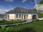 Проект просторного одноэтажного дома с гаражом